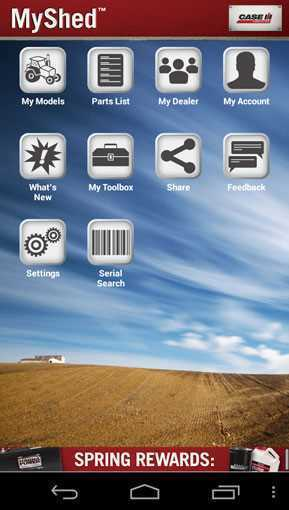 Case ih my shed agriculture apps for My shed app