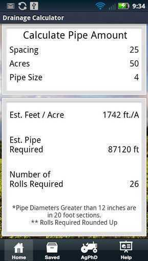 Drainage Tile Calculator App Agriculture Apps Farms Com