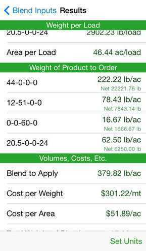 Fertilizer Blend Calculator Agriculture Apps Farms Com