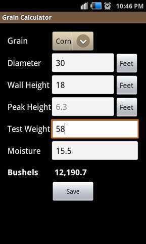 How To Measure Diameter >> Grain Calculator | Agriculture Apps | Farms.com