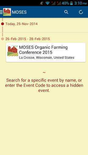 MOSES_Organic_Conference