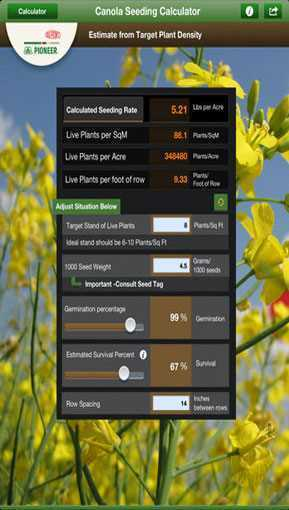 Pioneer_Canola_Seed_Rate_Calculator