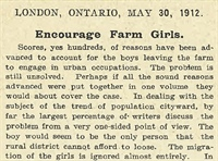 Encourage Farm Girls